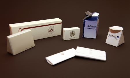 Production of packaging for hotel consumables