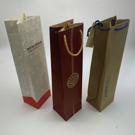 Production of paper bags for bottles